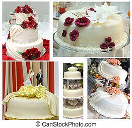 結婚式のケーキ, セット