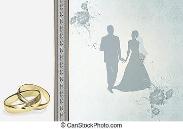 結婚式の招待, design.