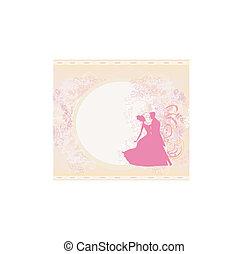 結婚式の カップル, 背景, ダンス