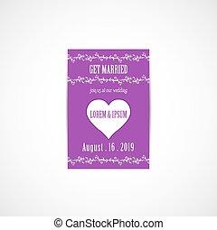 結婚式, カード, 招待