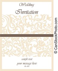 結婚式, カード, 装飾, 招待