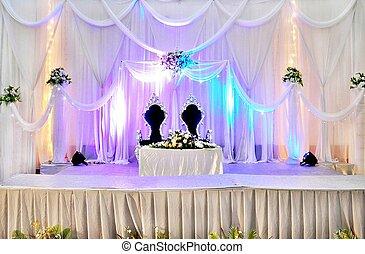 結婚式, ステージ