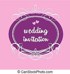 結婚式, テンプレート, 招待