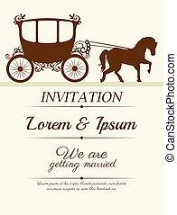 結婚式, デザイン, 招待