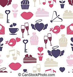 結婚式, パターン, バレンタインデー, seamless