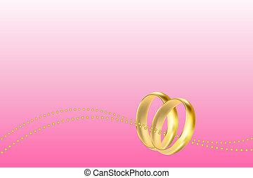 結婚式, ベクトル, カード, 招待