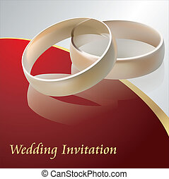 結婚式, ベクトル, 招待