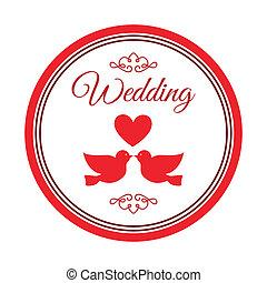 結婚式, ラベル