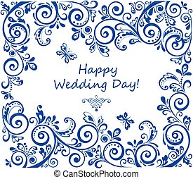 結婚式, レトロ, 招待