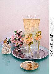 結婚式, ワイン ガラス