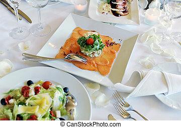 結婚式, 夕食