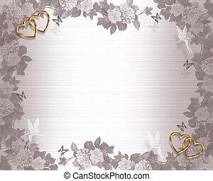 結婚式, 妖精, 背景, 招待