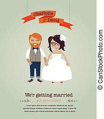 結婚式, 情報通, カード, 招待