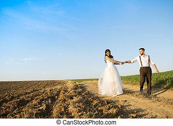 結婚式, 歩きなさい