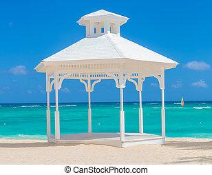 結婚式, 浜, アーチ, punta, cana