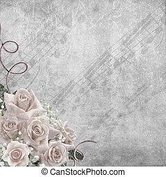 結婚式, 背景, ばら, 日, メモ