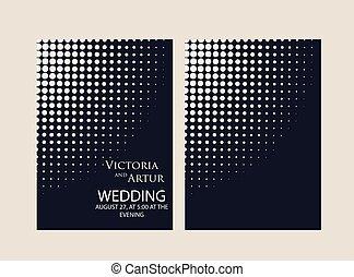 結婚式, 背景, 招待