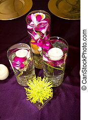 結婚式, 花, そして, 装飾, ∥において∥, レセプション