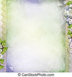 結婚式, 記念日, 花, 背景, 休日, 美しい, 白