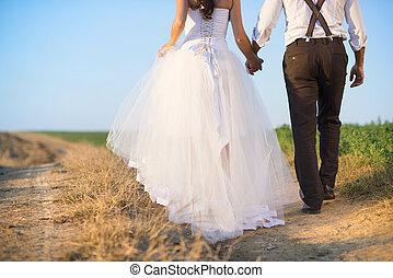 結婚式, 詳細, 自然