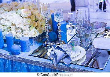 結婚式, 飾られる, resturant