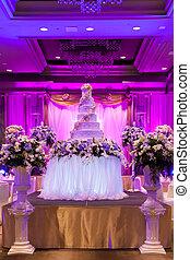 結婚式, banquet.