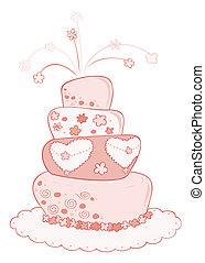 結婚式, cake.