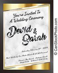 結婚式, eps, サンプル, ベクトル, テンプレート, 招待, カード