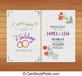 結婚式, florals, 招待