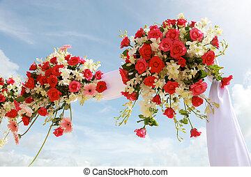 結婚式, flowers.