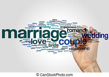結婚, 単語, 雲