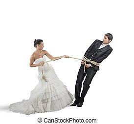 結婚, 捕えられた
