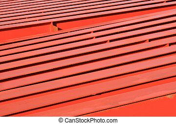 結构, 橫樑, 紅色, 鋼
