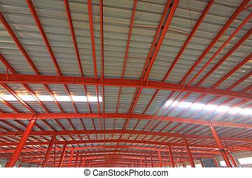 結构, 風景, 鋼, 紅色, 內部