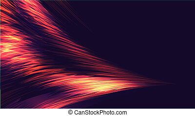 結構, ......的, 紅色, 各種各樣, 摘要, 明亮, 發光, 閃光, 電, 神秘, 不可思議, 能量, 波浪, 以及, 條紋, lines., the, 背景。, 矢量, 插圖