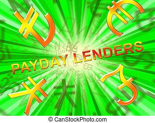 給料日, lenders, 手段, 所得, ローン, 3d, イラスト