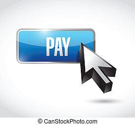 給料, ボタン, デザイン, イラスト