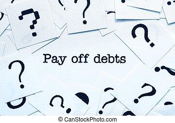 給料, 負債, 離れて