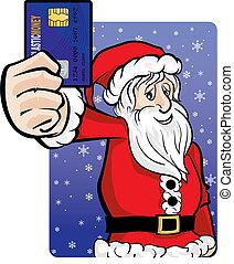 給料, claus, カード, santa, クレジット