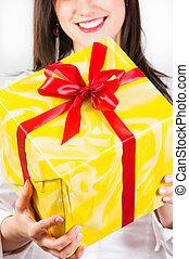 給, 女孩, 你, 禮物