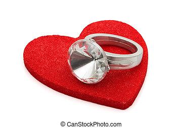 給, 戒指, 鑽石