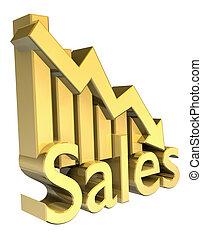 統計數字, 圖表, 銷售, 金