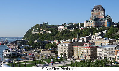 絵のよう, ホテル frontenac, ケベック, cit, 光景