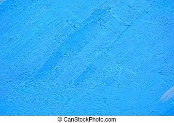 絵画壁, バックグラウンド。, 青, コンクリート