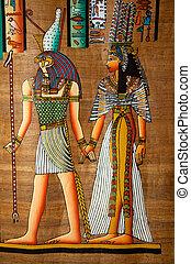 絵, スクロール, エジプト人
