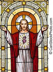 絵, 窓, 墓地, イエス・キリスト