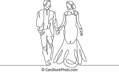 絶え間がない, 線, 新婚者