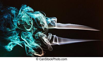絹のようである, 緑, 煙, カーブ