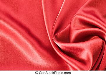 絹, サテン, ∥あるいは∥, 背景, 赤