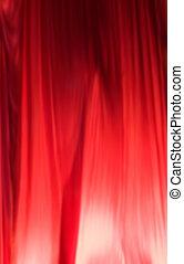 絹, 赤いカーテン